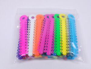 Dental Orthodontic Bracket Ligature Ties Elastic Rubber Bands Brace Colorful