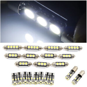 21x For Bmw E46 Sedan Coupe M3 1999 2005 Canbus Car White Interior Led Light Top