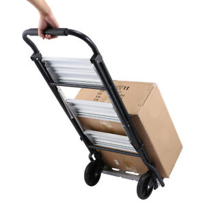 Folding Hand Truck Dolly Luggage Carts 220lbs Capacity Industrial travel shoppin