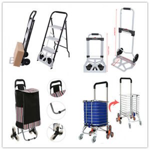 220lbs Aluminium Cart Folding Dolly Push Truck Hand Collapsible Trolley Luggage