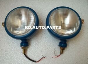 Ford Tractor Head Light Set lh Rh 12 V Blue Color