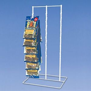 Countertop Triple Clip Candy Display In White 15 In W X 24 In H