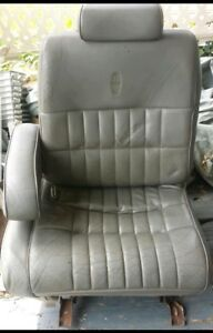 1994 Lincoln Town Car Gray Leather Driver Seat