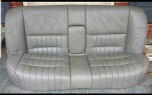 1994 Lincoln Town Car Gray Leather Rear Seat