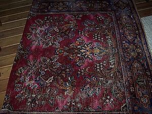 Vintage Rare Magee Wool Tapestry Area Throw Rug Bloomsburg Pa 6 X9 Machine Loom