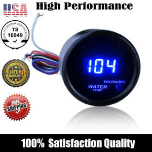 2 52mm Cover Car Universal Digital Blue Led Water Temp Gauge Fahrenheit S