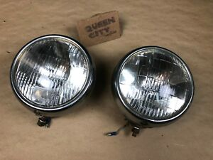 Pair Vintage Guide Blc 5 3 4 Driving Light Fog Lamps 6v 1940s 50s Ford Chevy
