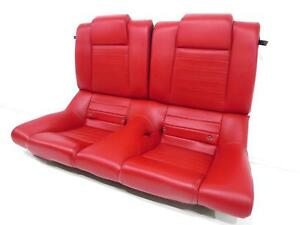 Oem Ford Mustang Gt Coupe Leather Rear Seat Red 2005 2006 2007 2008 2009