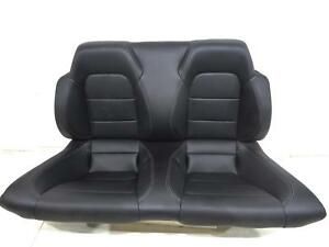 Oem Ford Mustang Gt Convertible Leather Rear Seat Black 2015 2016 2017