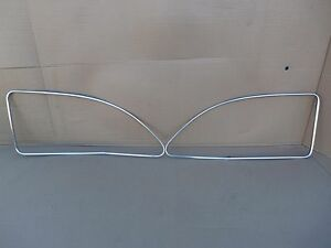 Rear Window Trim Pair Chevy Fleetline Styline Left Right Molding Exterior Oem Gm