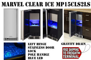 Stinaless Marvel15 Under Counter Clear Ice Maker Mp15cls2ls Blue Led