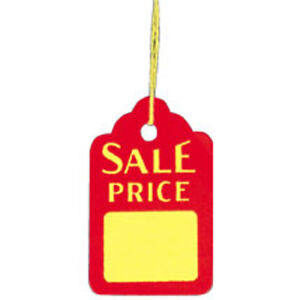 Sale Price Tags With Strings 1 1 8 W X 1 3 4 H Inch 1000 Per Box