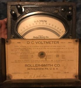 Vintage Roller smith Type Np Serial 149252 1930 Dc Voltmeter With Case