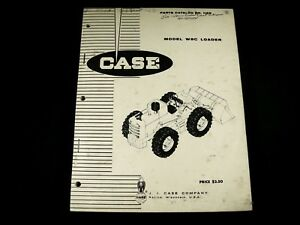 Case W8c Loader Tractor Parts Manual Book Catalog List