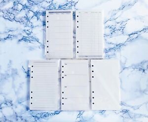 40 A6 Personal Planner Pages Inserts Refills Monthly Weekly Calendar To Do Log