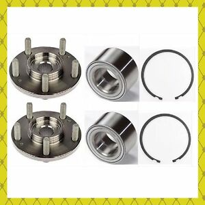 Front Wheel Hub Bearing W snap Ring For 2007 2013 Jeep Compass 4 Wheel Abs