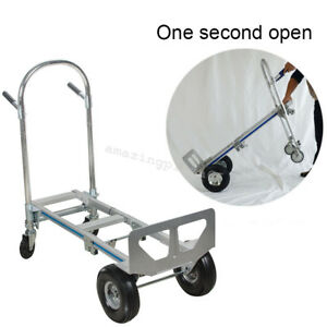 2in1 Foldable Hand Truck Convertible Hand Truck Converts W Wheels Easy Use