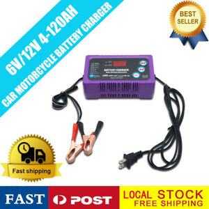 Battery Charger Float Trickle Maintainer 6 12v For Bike Car Truck Mower us Plug