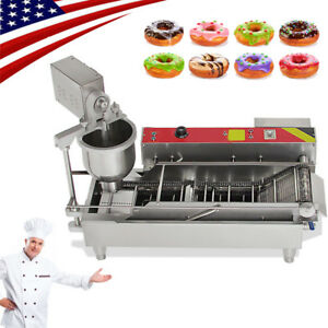 2018 electric Auto Doughnut Donut Machine Donut Maker 3 mold 850 1100 Pcs h