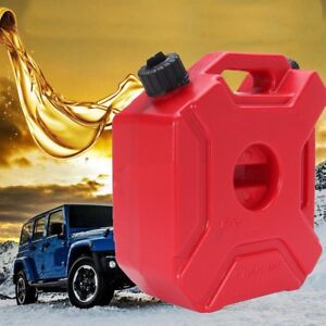 5l Gas Can With Lock Oil Pack Fuel Cans Spare Plastic Motorcycle Gasoline My