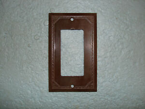 Vintage Uniline Brown Decora Gfci Switch Outlet Cover Plate Ribbed
