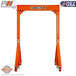 Prowinch Manual Gantry Crane 5 Ton 12 Ft Height 8 Ft Span Made In Usa