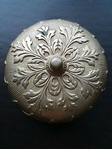 Antique Door Bell Works Beautiful Sound Brass Ornate Large Fancy
