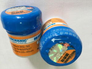 5 Pcs lot Xg 50 Soldering Solder Paste Flux 35g Sn63 pb67 100 Original Mec