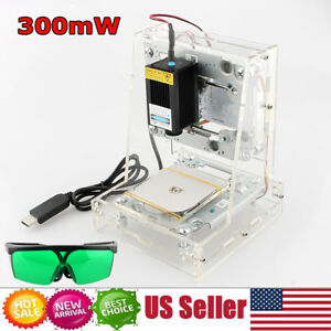 Usa 300mw Usb Laser Engraver Printer Carver Diy Logo Engraving Cutter Machine