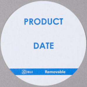 3000 Case Food Rotation Product Date Removable 3 Round Label Dispenser Sticker