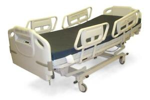 Hill Rom Advanta P1600 W Scale Hospital Bed 6 Function Easy Grip Siderail