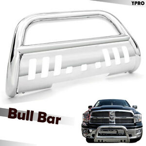 1994 2001 Dodge Ram 1500 2500 3500 Chrome Bull Bar Grilles Guard With Skid Plate