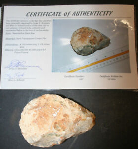 European Flint Neanderthal Hand Axe Cert Authenticity 250 000 45 000 B C France