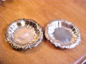 Attractive Vintage Heavy Silverplate Candy Dish Set Aq690