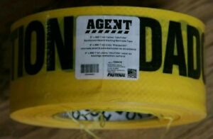 Lot Of 2 3 X 500 7mil Yellow caution Reinforced Tape Roll fastenal 2 Roll
