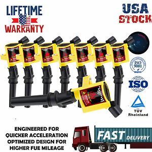 Ignition Coils Pack Upgrade For Ford F150 2000 2001 2002 2004 4 6 5 4lv8 Triton