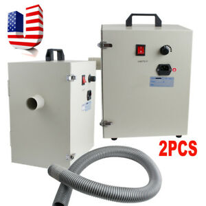 2 Dental Dust Collector Vacuum Collecting Cleaner Machine Dental Leb Equipment