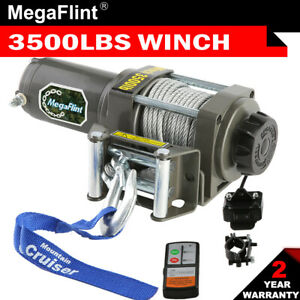 New Electric Winch Towing 12v Portable Atv Truck Remote 3500lbs