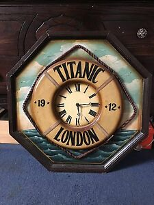 24 Titanic Hand Painted Wood Wall Clock Unique Collectible