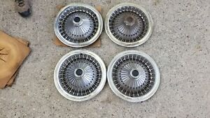 Nos Vintage Chrysler Dodge Plymouth Wire Spoke Hubcaps Wheel Covers Set Of 4