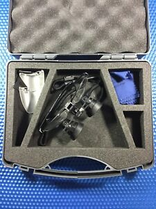 Heine Binocular Loupes 2 5 X Magnification With Case Dental Surgical