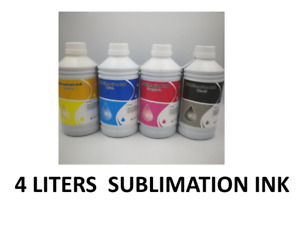 Sublimation Ink 4liter For Any Epson Inkjet Or Wide Format Printers Made N Usa