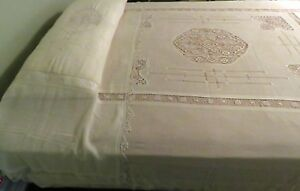 Antique Bedspread Pillow Cover Set 5 Pcs Long Lay Over Sham Bed Coverlet