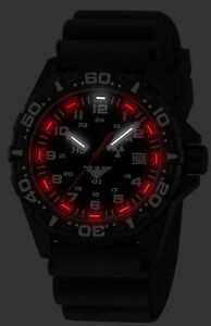 Khs Tactical Watch Red Reaper H3 Light Swiss Movement Date Diver Band Khs re db