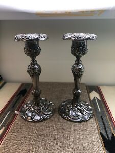 Awesome Art Nouveau Sliver Plate Superior Silver Co Candle Sticks