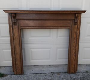 Vintage Oak Fireplace Mantle