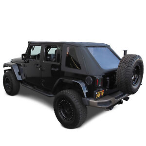 2007 18 Jeep Wrangler Jk Unlimited 4 Door Ridge Runner Frameless Style Soft Top