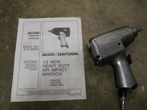 1 2 Air Impact Wrench Craftsman 875 188840 Sears