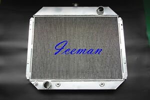 3 Row All Aluminum Radiator 1975 1979 Ford F 100 F 250 F 350 Bronco V8