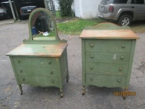 Furniture Antique Child S Bedroom Dresser And Chest Cottage Shabby Chic